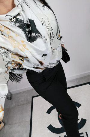 Koszula VIP colection jedwabis + print WOMEN