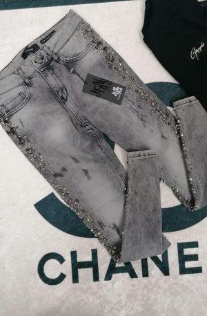 Jeansy D'SHE USA grey + KRYSZTAŁY SVAROW LIMITED