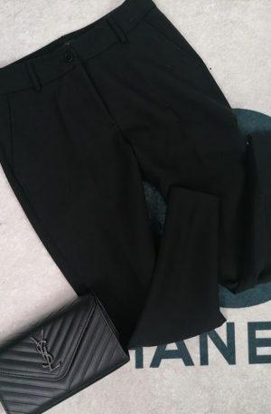 Spodnie QM  VIP WEAR czarne elegant