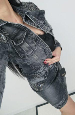 Spódnica D-SHE LUXURY DENIM + KRYSZTAŁY