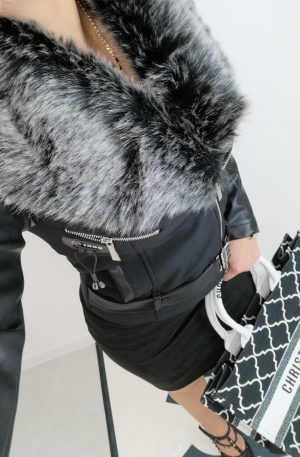 Kurtka/ Ramoneska NICE Faux Fur + eco skóra