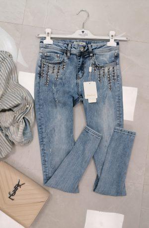 Spodnie D'SHE Luxury Denim Blue + kryształki