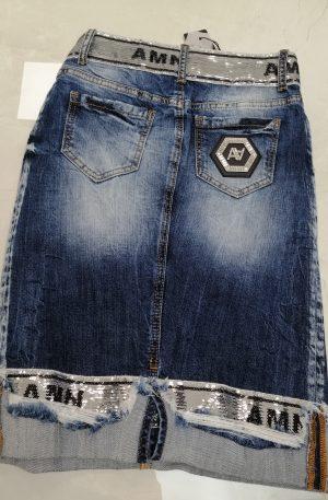 Spódnica MADNESS Jeans + cekiny – WYPRZEDAŻ