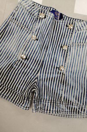 Spodenki D'SHE Blue&White – WYPRZEDAŻ