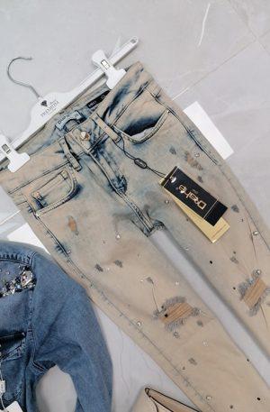 Spodnie D-SHE Miley + kamienie opalizujące