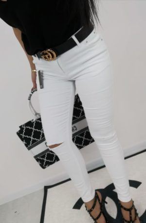 Spodnie IVI  SHE WHITE SLIM FIT + push up
