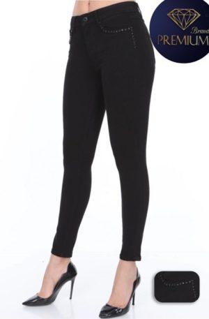 Spodnie D-SHE Miley Black skinny