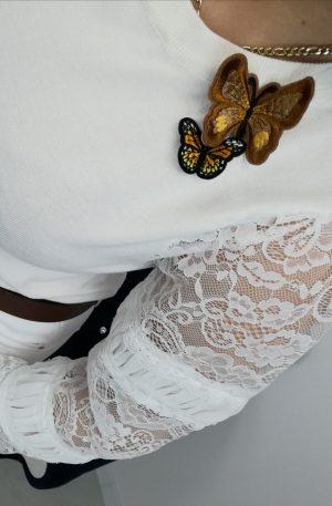 SWETEREK Betty White + motylki