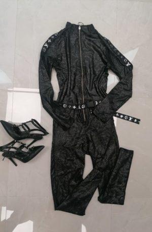 Luksusowy kombinezon SILVER glamour