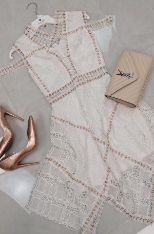 Sukienka Claris Cream + koronka