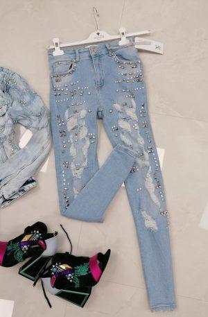 Spodnie NICE Sparkling Blue + dżety
