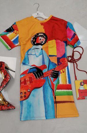 Sukienka RAW Provocateur RED GITARRE + SASZETKA
