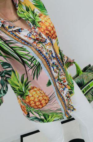 KOSZULA NICE Pineapple + kryształki