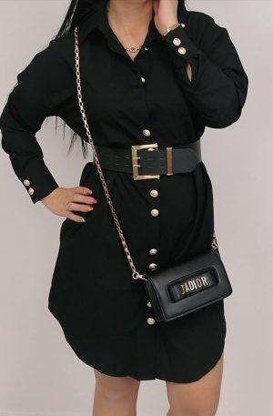 Sukienka Noix Lumo Black + pas gold