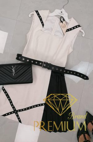 Sukienka Madness Milano AMN White + pasek