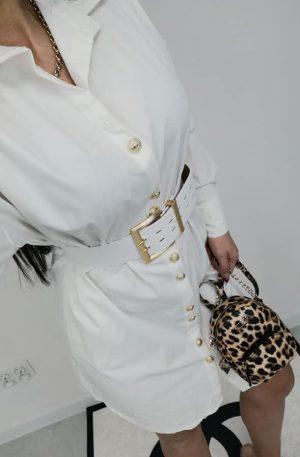 Sukienka Noix Lumo WHITE  + pas gold