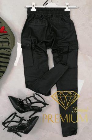 Spodnie SHE DAX BLACK + kieszenie