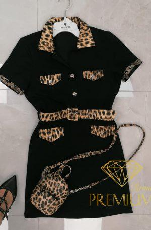 Sukienka FRAGIE BLACK  + panterka