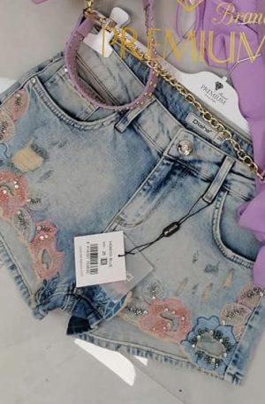 Spodenki Jeans GLAMOUR FLOWER D SHE