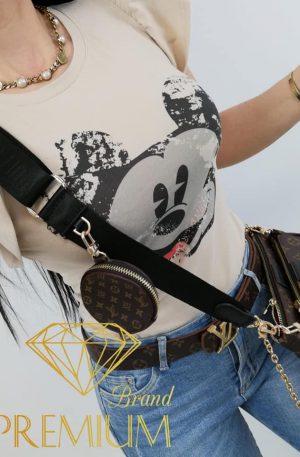 Bluzka / koszulka SCRATCH MICKEY beżowa