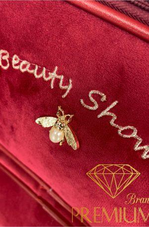 Torebka kosmetyczka HOUSEFLY Beauty Show red
