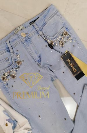 Spodnie skinny D SHE MILEY Ultramarine jeans