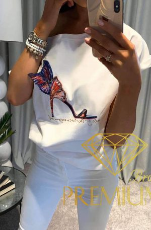 Bluzeczka High Heels 3D biała