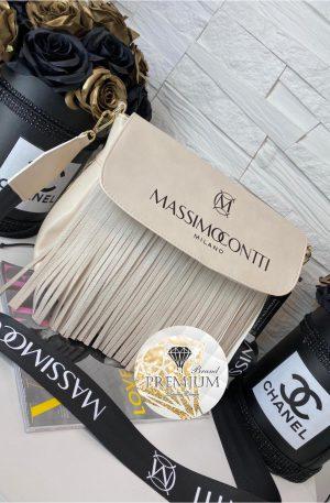 Torebka Massimo Contti frędzle rose pearl