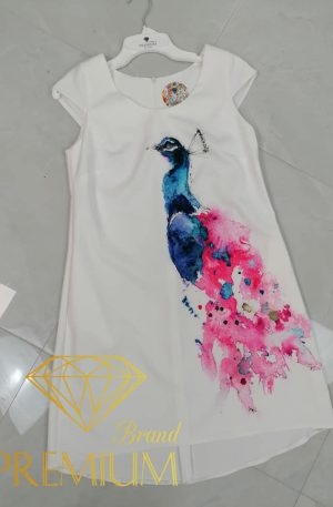 Sukienka BL Fluo Aquarell Peacock