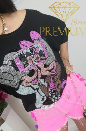 BLUZKA koszulka MICKEY SELFIE black
