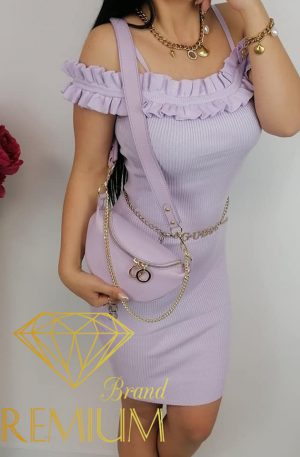 Sukienka dzianinowa GORGI lila