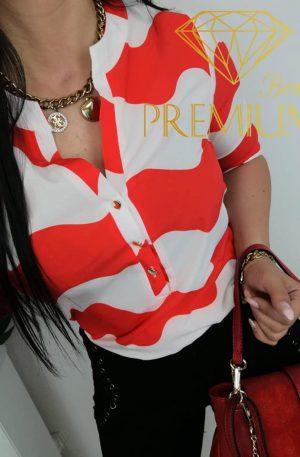 KOSZULA Miu Blan red&white