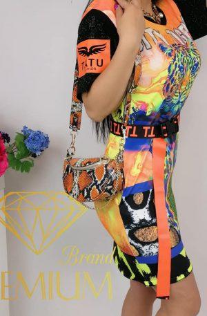Sukienka NEON TIGER orange