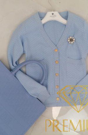 Sweterek dzianina ELEGANT BLUE