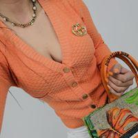 Sweterek dzianina LUX KNIT ORANGE