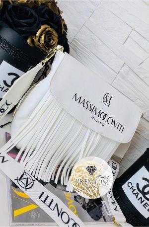 Torebka Massimo Contti frędzle white