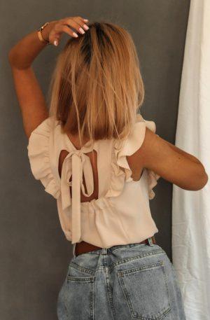 Bluzka FIRFIR BOW beige