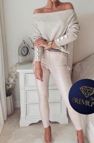Spodnie skinny CILTY SLIM champagne