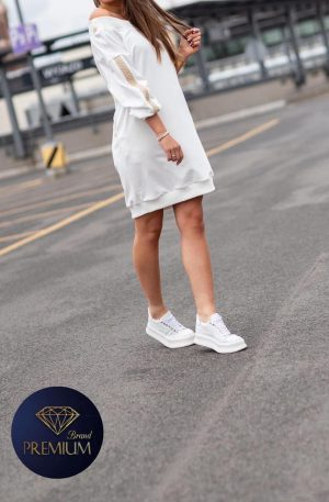 Sukienka dresowa DERI white