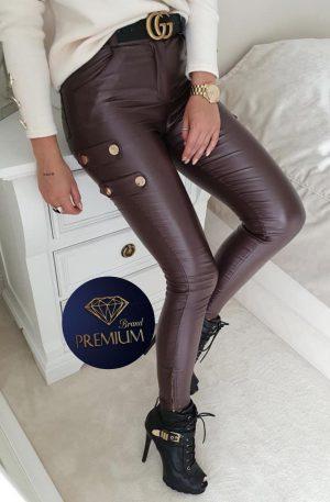 Spodnie skinny CILTY SLIM chocolate