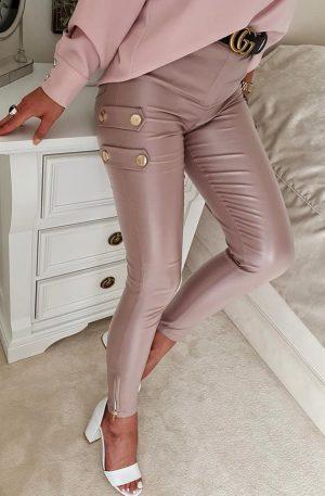 Spodnie skinny CILTY SLIM rose gold