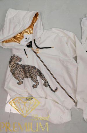 Dres TATU CRYSTAL PANTHER white
